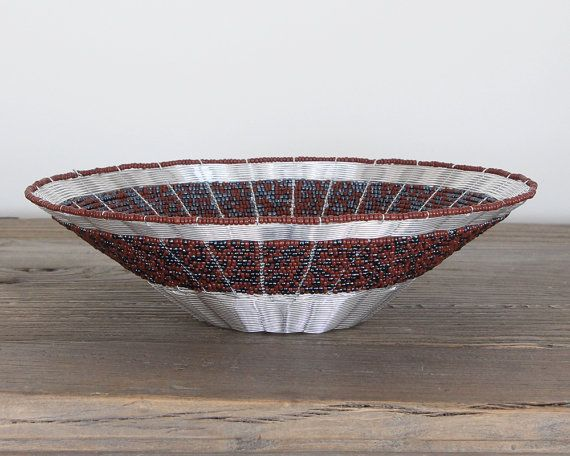 African Bowl  Art Bowl  Modern Bowl  Accent Bowl by africaohafrica #african #home #interiors #decor #bowl #beaded