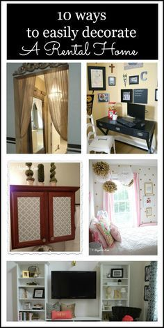 10 easy ways to decorate and personalize a rental home, military housing or a new home, all easy and affordable. This post also has some great solutions to help mask common rental home decor issues.
