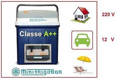 Frigorifero Mini Frigo Portatile Piccolo da Viaggio Elettrico 12V 220V Auto Casa