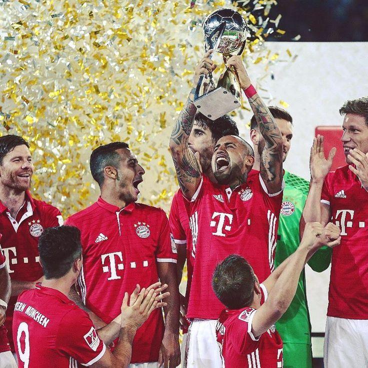 Bayern Munich winning the 'Supercup' final 2016 against Borussia Dortmund