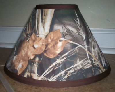 Max 4 camo lamp shade lampsahde made with realtree fabric for Realtree floor lamp