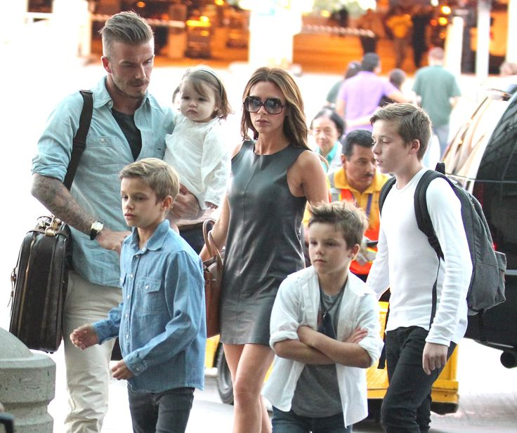 David Beckham and Victoria Beckham's kids miss LA.