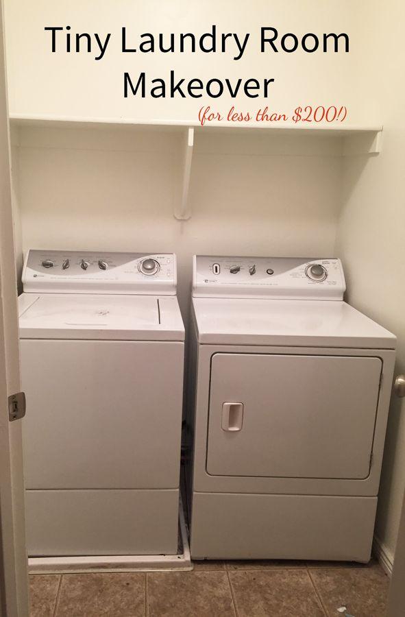 Tiny Laundry Room Makeover