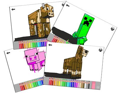 Printable Minecraft Coloring App For Kids Create Your Own Fan Art