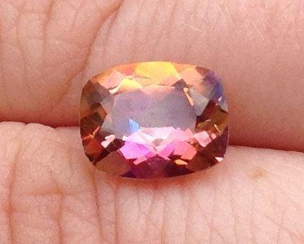 Mystic Rainbow Topaz 3.10 Carats 8x10mm Multi Color Gemstone