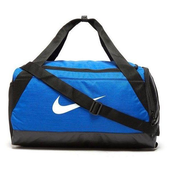 Nike Brasilia Small Duffle Bag | JD Sports ($31) ❤ liked on Polyvore featuring bags, handbags, blue purse, sports duffel bag, nike handbags, duffle bags and sport duffel bags