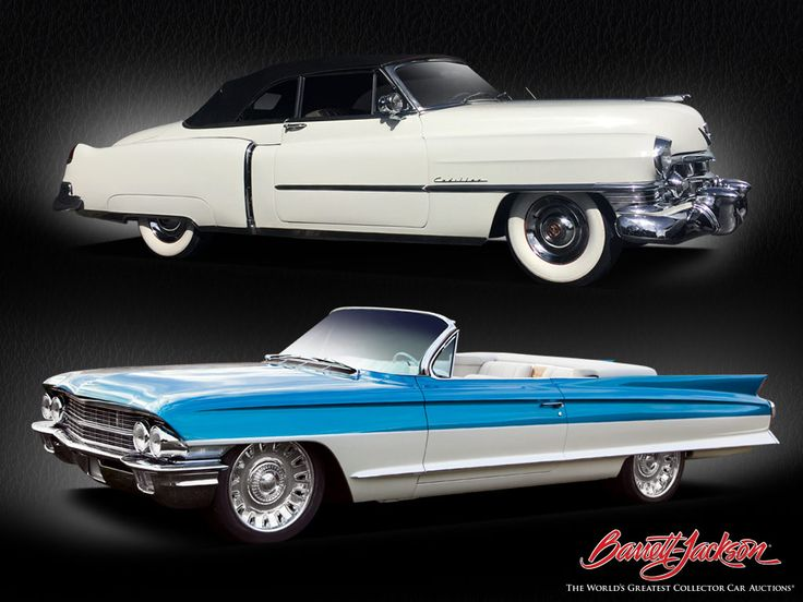 """Stock or custom? Look for these two collectible Cadillacs - a 1950 Cadillac De Ville and a custom 1962 convertible known as """"Cadalina"""" - crossing the block at the 15th Annual Barrett-Jackson Palm Beach Auction."""