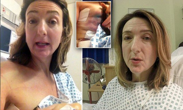 BBC's Victoria Derbyshire's video diary from day of her cancer op