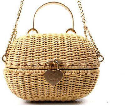 Chanel - Authentic Chanel Rattan Basket Shoulder Bag Rare | MALLERIES