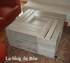 DIY table basse bar en bois de palette DIY wood pallet coffee table