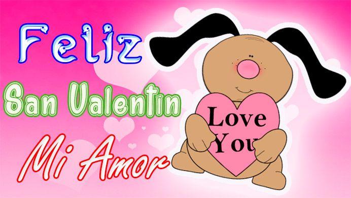 Perrito Caricatura en San Valentín