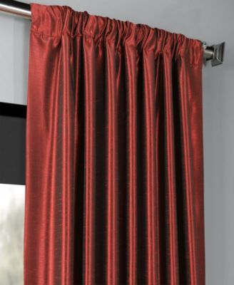 Exclusive Fabrics & Furnishings Blackout Vintage Textured 50″ x 84″ Curtain Panel – Red