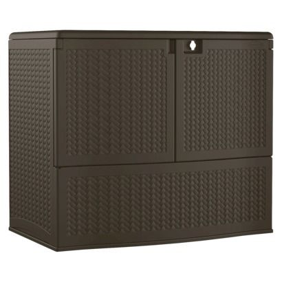 Captivating Resin Wicker Storage Buffet   Brown   Suncast. Patio Cushion ...