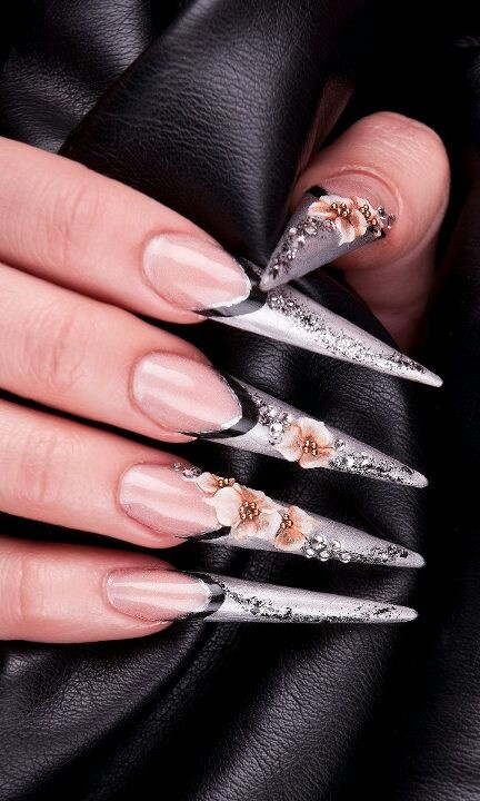 Stilleto.......  OUCH! I actually would hate wearing these, in fact I can't stand them. They are really ugly and it looks like wolverine claws to be honest...