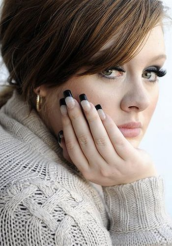 thinking about doing black nail tips for the wedding... thoughts?
