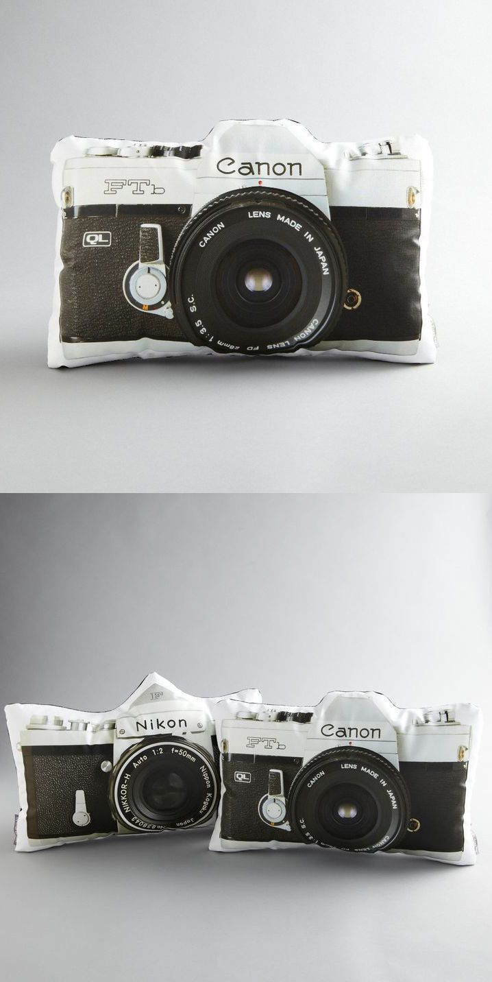 Camera throw pillows