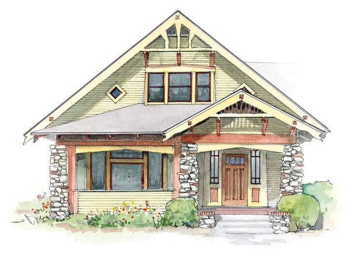 Bungalow gables crafts home and arts crafts for Craftsman style brackets