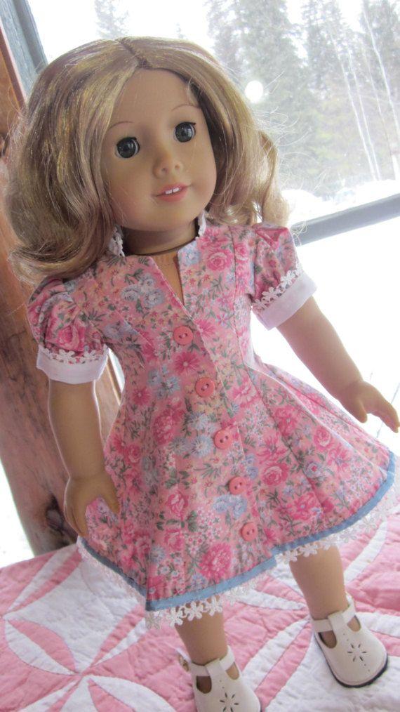 Poupée Vêtements rose fleur impression Style princesse robe