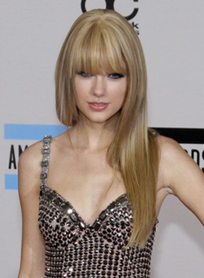 Straight Blonde Hair With Bangs 9
