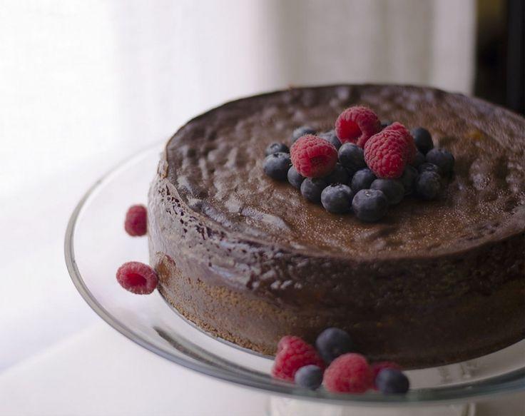 Vegan chocolate cheesecake. | in my gluten free kitchen | Pinterest