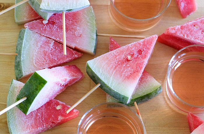"""Has there ever been a more perfect pairing than watermelon and rosé?! La Femme Epicure's Sarah Simms Hendrix created these thirst-quenching drunken watermelon popsicles just for our 2015 Cocomero® Rosé. With this combination, your perfect summer afternoon lies just around the corner!"""""""