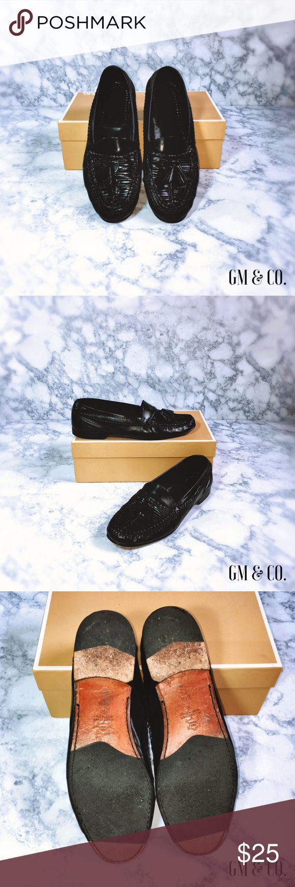 💥🇺🇸SALE🇺🇸💥 Vito Rufolo Men's Dress Shoes Polished black, 💯 leather, made in Italy. Gently worn by my Dad, as seen in photos.   Thank you for stopping by my closet! Please let me know if you have any questions or if I may assist you with anything! GM Vito Rufolo Shoes Loafers & Slip-Ons