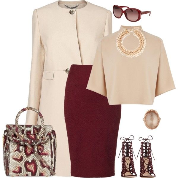 outfit 2076 by natalyag on Polyvore featuring moda, Warehouse, L.K.Bennett, Lipsy, Gianvito Rossi, Alexander McQueen, Kenneth Jay Lane, Larkspur Hawk and Fendi