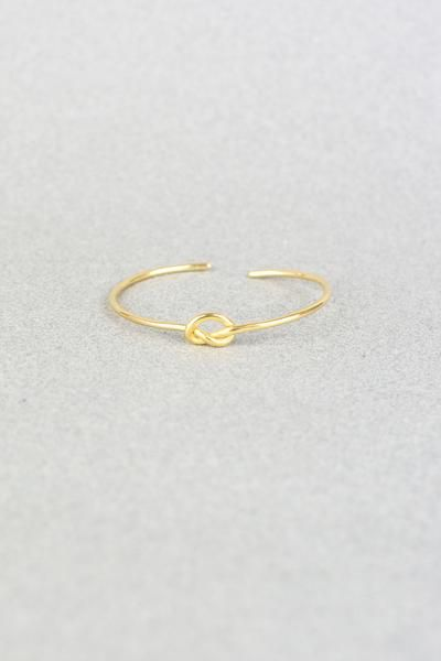 KNOT BANGLE-GOLD
