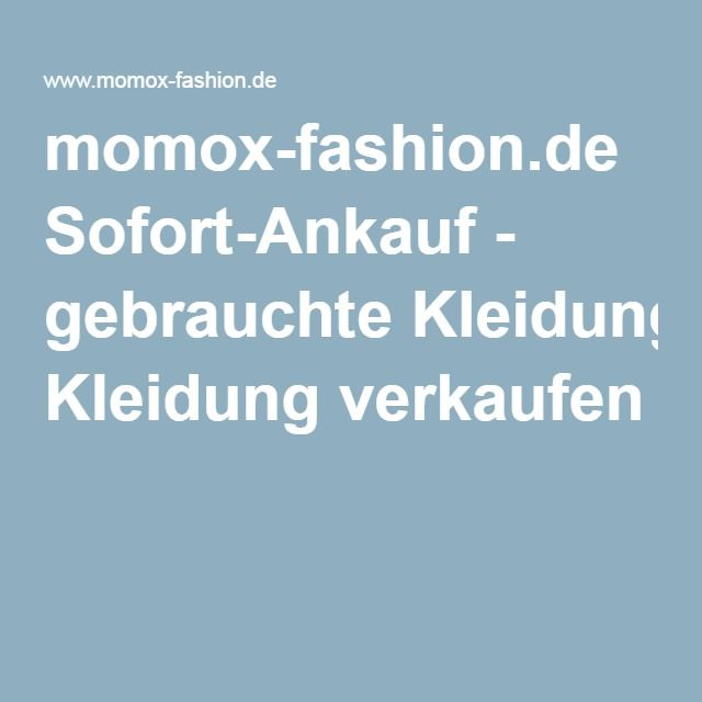 momox-fashion.de Sofort-Ankauf - gebrauchte Kleidung verkaufen