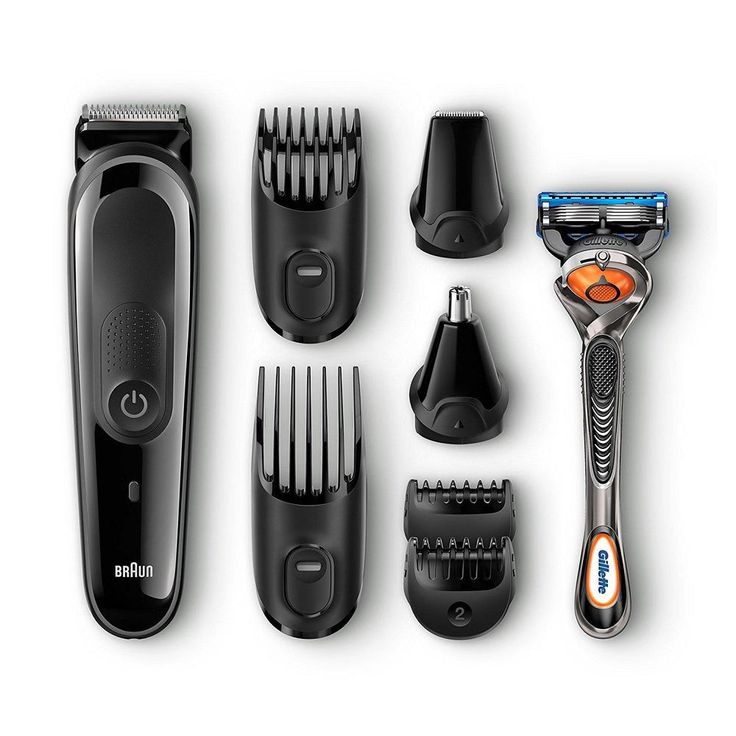 Mens Grooming Kit 8 in 1 Beard Hair Trimmer Precision Face and Head Trimming NEW #Braun