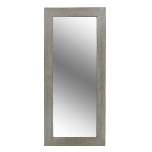 Concrete frame with mirror