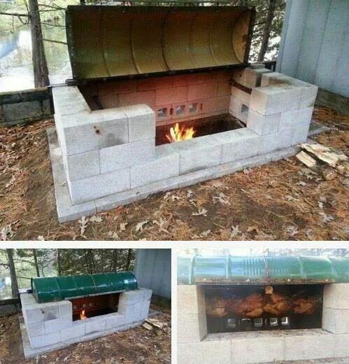 Rotisserie fire pit
