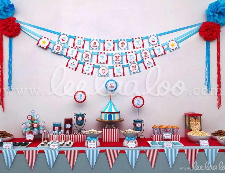 Circus Blue Birthday Party Theme - B13 - Circus / Carnival