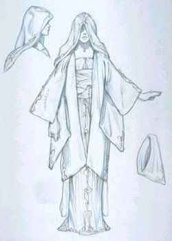 Star Wars Queen Amidala's Handmaidens Yellow Throne Room Dress - Original Concept Art