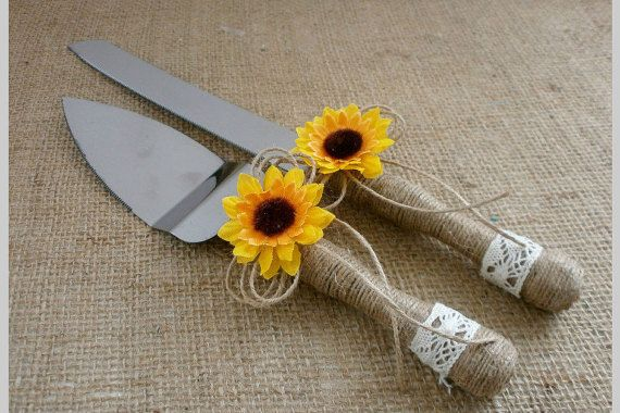 Cake Knife Set Wedding Cake Serving Knife by HappyWeddingArt