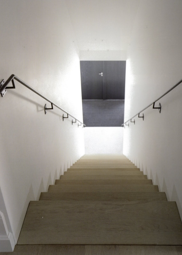 elegant handrail & oak stairs