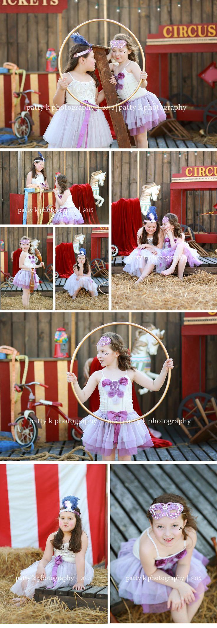 Circus Minis | Imagination Session | Mattea & Marissa | Raeford, NC Child Photographer | Patty K Photography