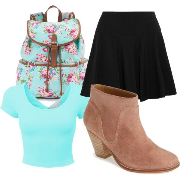 first day of middle school by lula-bonner on Polyvore featuring polyvore fashion style DKNY J Shoes Candie's
