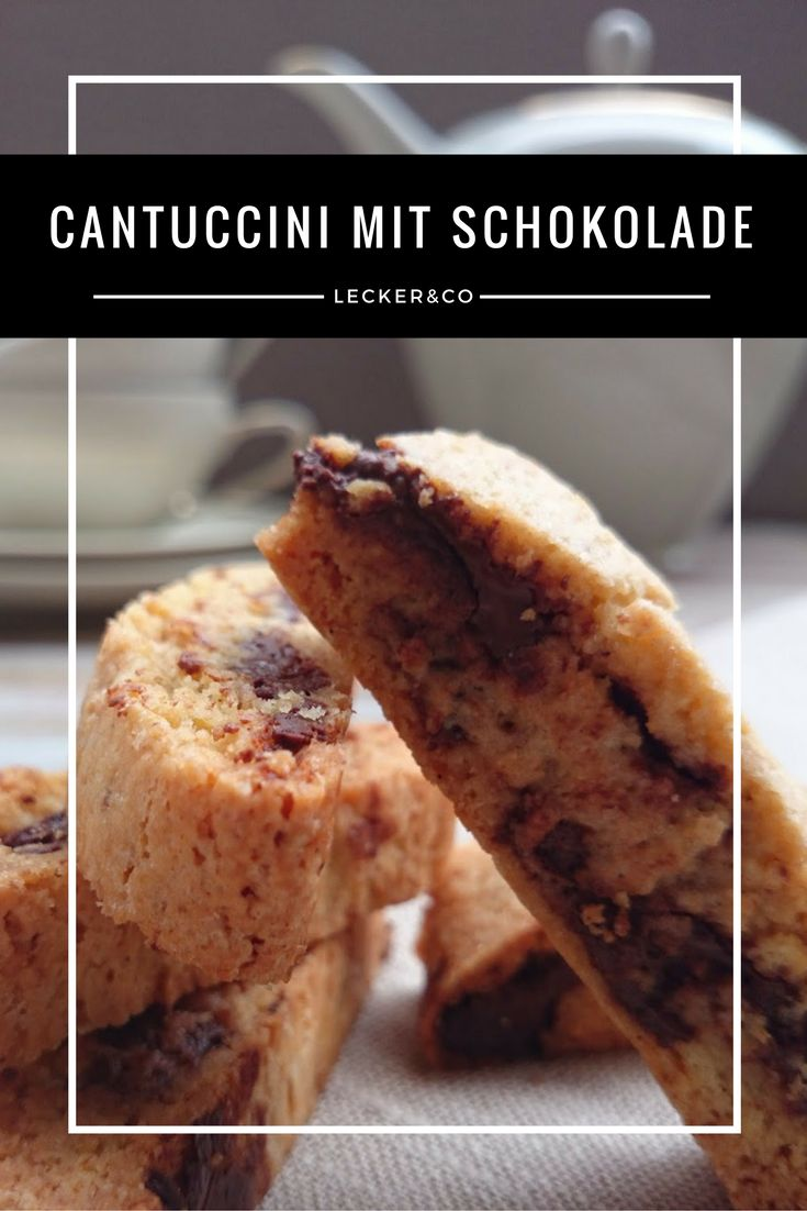 Cantuccini mit Schokolade | Cantuccini with Chocolate
