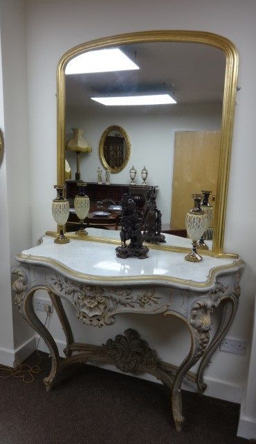 Original Painted Victorian Console Table
