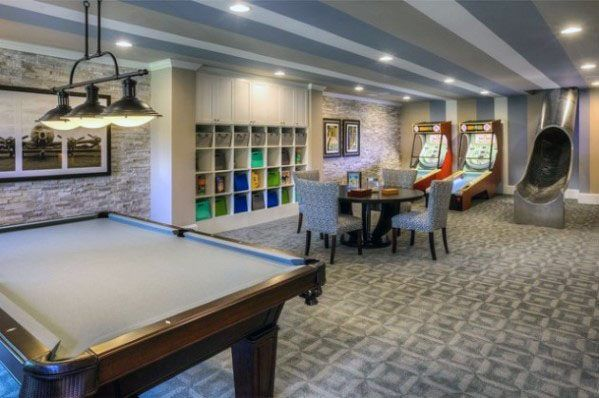 Top 70 Best Finished Basement Ideas Renovated Downstairs Designs Game Room Basement Game Room Design Basement Design