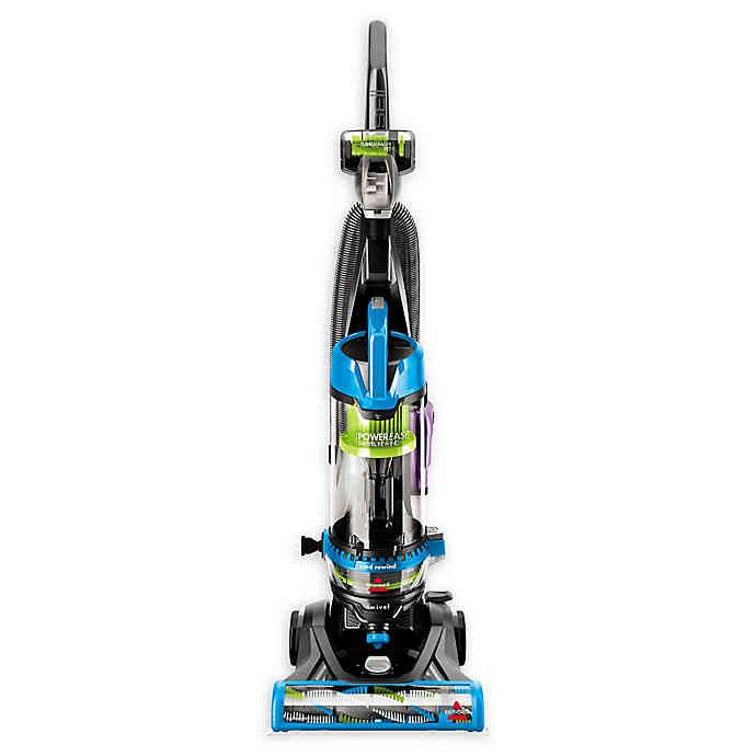 Bissell Powerease 2253 Swivel Rewind Pet Vacuum In Blue Bed