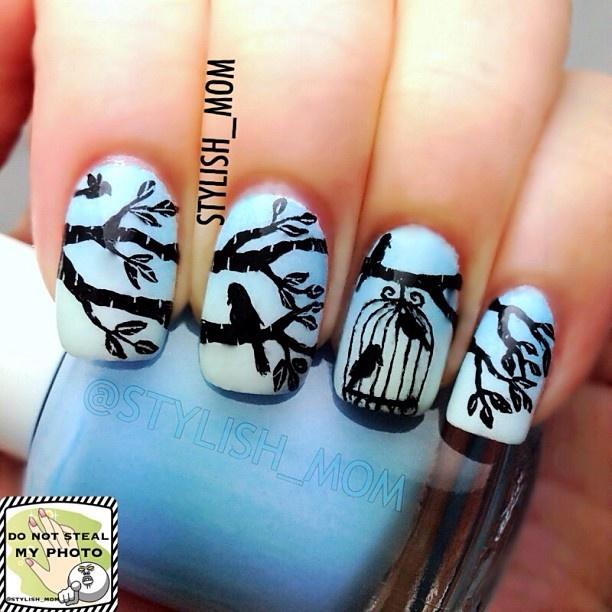 Instagram photo by stylish_mom #nail #nails #nailsart - Best 25+ Bird Nail Art Ideas On Pinterest Divergent Nails
