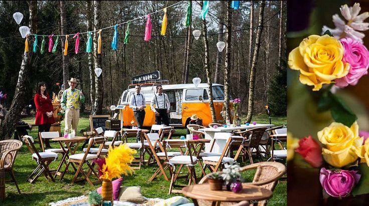 Styling bruiloft festival sfeer | Dufrashes fotografie
