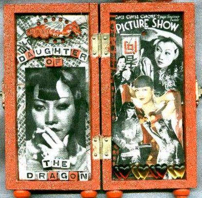 Cigarette box shrine - Meg Greene Malvasi
