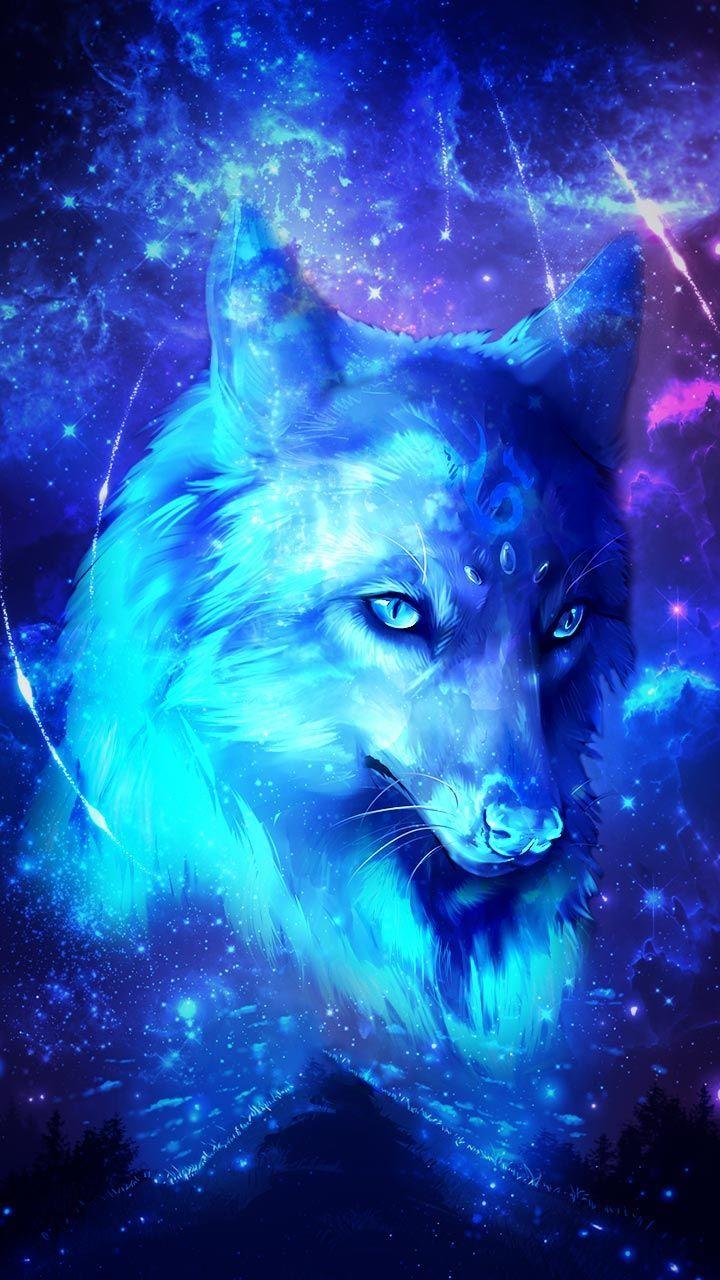 Galaxy Wolf Wolf Galaxy Wolf Wolf Craft Wolf Spirit Animal Beautiful Wolf