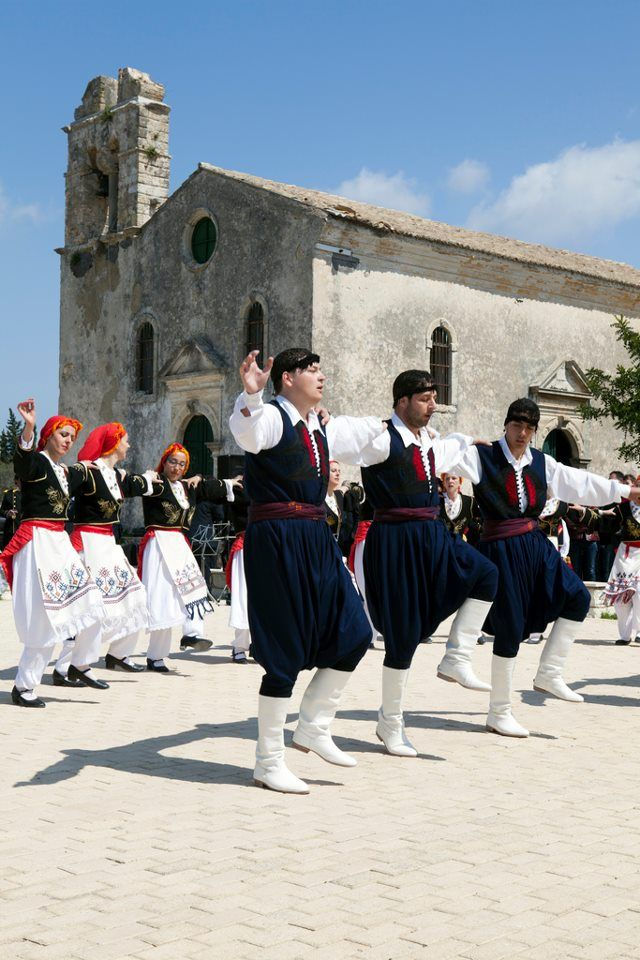 Greek traditional costumes   from CRETE Island