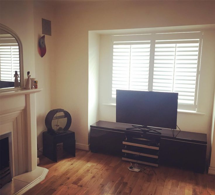 A recent Shutter job in Maynooth. 89mm pure white shutter. #Maynooth #purewhite #irishshutters #irishinteriors #coolideas #tvroom #plantationshutters #irishhouse - Recent Work