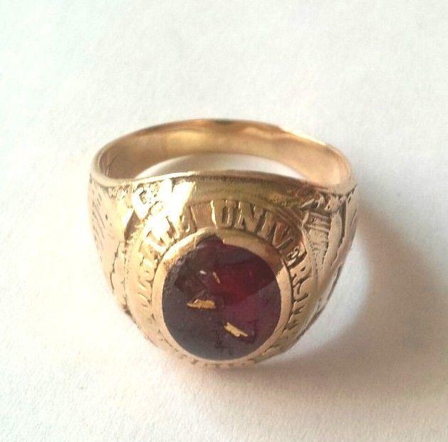 Vintage College Ring COLGATE UNIVERSITY 1957 MENS 10 K ...