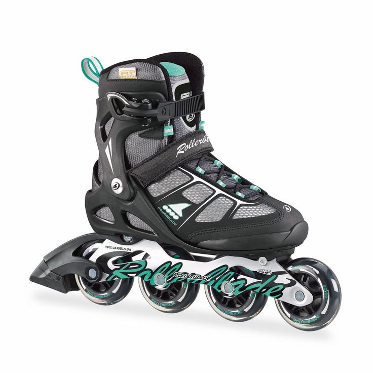 Rollerblade Women's Macroblade 80 Alu Inline Skates - Black/Light Green 2017